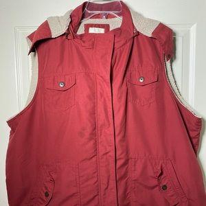 Sonoma lifestyle woman 2X zip off hoodie vest Rust